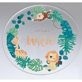 """Plexiglass Διακοσμητικό με Ζώα της Ζούγκλας """"Let's Get Wild"""" 7cm - ΚΩΔ:M10492-AD"""