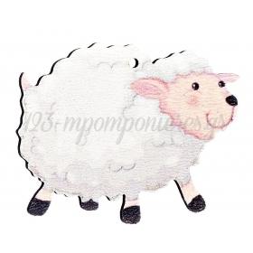 Ξύλινο Πρόβατο 5X5cm - ΚΩΔ:M4729-AD