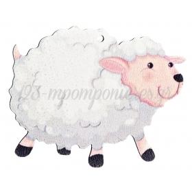 Ξύλινο Πρόβατο 7X7cm - ΚΩΔ:M4730-AD