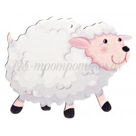 Ξύλινο Πρόβατο 10X10cm - ΚΩΔ:M4731-AD
