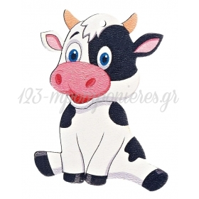 Ξύλινη Αγελάδα 5.5X7cm - ΚΩΔ:M4733-AD