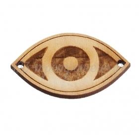 Ξύλινο Μάτι 3.5X2cm - ΚΩΔ:M4744-AD