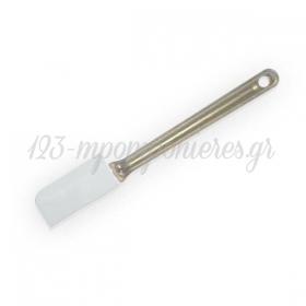 Σπάτουλα σιλικόνης μικρή μαρίζ λευκή 24,5cm - ΚΩΔ:00000036-SW