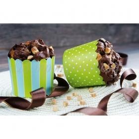 Θήκες για cupcake λαχανί- γαλάζιο 6-7cm, ύψος 5,5cm- ΚΩΔ:00001628-SW