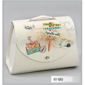 Τσάντα βάπτισης από δερματίνη τυπωμένη - Ταξίδι - Travel - ΚΩΔ:07-583-ZB