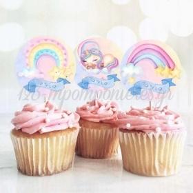 Στικάκι Cupcake Ουράνιο Τόξο 13cm - ΚΩΔ:P25917-25-BB