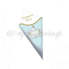 Χάρτινο Χωνάκι για Ζαχαρωτά Άμαξα 20cm - ΚΩΔ:D1401-1-10-BB