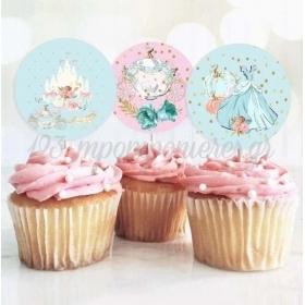 Topper Cupcake Σταχτοπούτα 13cm - ΚΩΔ:P25917-27-BB