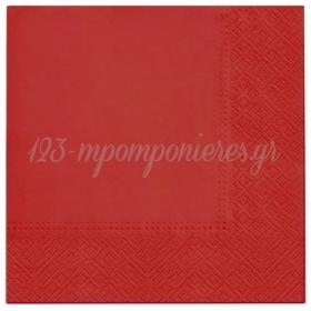 Χαρτοπετσέτες Κόκκινες 33X33cm - ΚΩΔ:SDL110503-BB