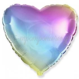 """Μπαλόνι Foil 18""""(45cm) Καρδιά Ουράνιο Τόξο - ΚΩΔ:201500GP-BB"""