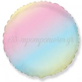 """Μπαλόνι Foil 18""""(45cm) Στρογγυλό Ουράνιο Τόξο - ΚΩΔ:401500GP-BB"""