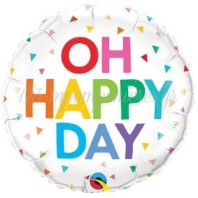 """Μπαλόνι Foil 18""""(45cm) Oh Happy Day - ΚΩΔ:10200-BB"""