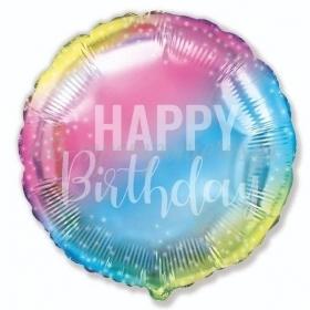 """Μπαλόνι Foil 18""""(45cm) Όμπρε Happy Birthday - ΚΩΔ:401614-BB"""