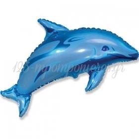 """Μπαλόνι Foil 24""""(60cm) Δελφίνι Γαλάζιο - ΚΩΔ:901546-BB"""