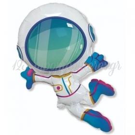 """Μπαλόνι Foil 24""""(60cm) Χαρούμενος Αστροναύτης - ΚΩΔ:901847-BB"""