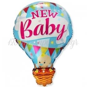 """Μπαλόνι Foil 24""""(60cm) Αερόστατο New Baby Boy - ΚΩΔ:901829-BB"""