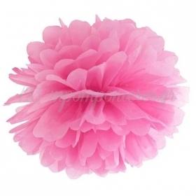 Ροζ Χάρτινο Pom Pom 35cm - ΚΩΔ:PP35-006-BB