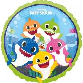 """Mπαλόνι Foil 18""""(45cm) Οικογένεια Baby Shark - ΚΩΔ:540758-BB"""
