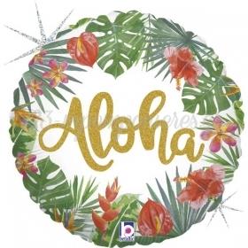 "Mπαλόνι Foil 18""(45cm) Tropical Aloha - ΚΩΔ:36804GH-BB"