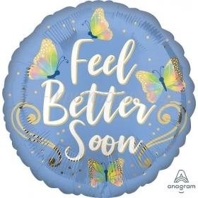 """Mπαλόνι Foil 18""""(45cm) Πεταλούδες Feel Better - ΚΩΔ:541689-BB"""