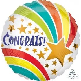"Mπαλόνι Foil 18""(45cm) Στρόγγυλο Congrats - ΚΩΔ:541137-BB"