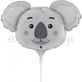 """Mπαλόνι Foil 14""""(35cm) Mini Shape Κεφάλι Κοάλα - ΚΩΔ:G72058-BB"""