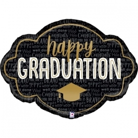 "Mπαλόνι Foil 36""(91cm) Κάδρο Happy Graduation - ΚΩΔ:25104-BB"