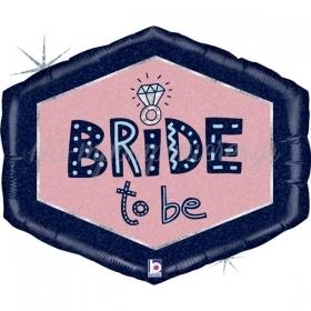 "Mπαλόνι Foil 30""(76cm) Bride To Be Πολύγωνο - ΚΩΔ:25110H-BB"