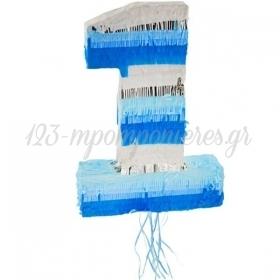 Πινιάτα Αριθμός Ένα Μπλε 50X35X8cm - ΚΩΔ:WM-PJNI-BB