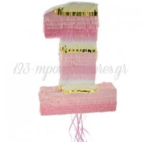 Πινιάτα Αριθμός Ένα Ροζ 50X35X8cm - ΚΩΔ:WM-PJRO-BB