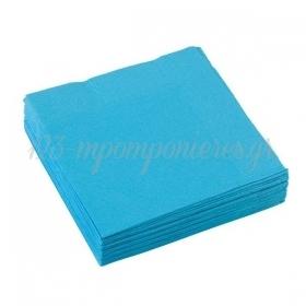 Χαρτοπετσέτες Γαλάζιο Καραϊβικής 25X25cm - ΚΩΔ:50220-54-BB