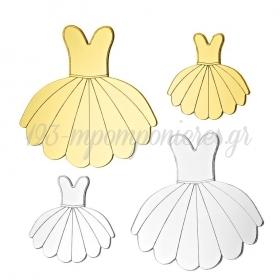Plexiglass Φόρεμα Μπαλαρίνας 8X8cm - ΚΩΔ:M4694-AD