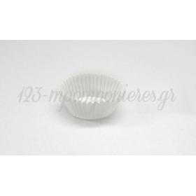 ΚΑΠ ΚΕΙΚ (cupcakes) ΧΑΡΤΙΝΑ - ΛΕΥΚΑ 7,5cm - ΠΑΚΕΤΟ 100 ΤΜΧ  - ΚΩΔ: 503071