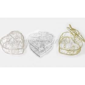 Μεταλλικο Καλαθακι Καρδια Με Καπακι 8.4X8X5.3Cm - ΚΩΔ: 517174