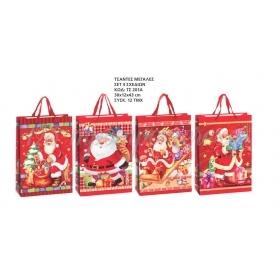 Χριστουγεννιατικες Τσαντες Αναγλυφες 3D 30X12X43 Εκατ. - ΚΩΔ:Ts201A-Ad