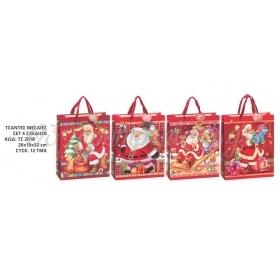 Χριστουγεννιατικες Τσαντες Αναγλυφες 3D 26X10X32 Εκατ. - ΚΩΔ:Ts201B-Ad