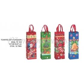 Χριστουγεννιατικες Τσαντες Αναγλυφες 3D 12,7X8,3X37 Εκατ. - ΚΩΔ:Ts123-Ad
