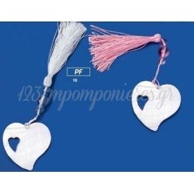 Φιλντισενιες Καρδιες Με Φουντα - 0443116 - ΚΩΔ: Pf16-Wav