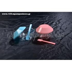 Ακρυλικά Κύπελλα Βάπτισης Με Καπάκι Και Κουταλάκι - ΚΩΔ: Sak-No21-26