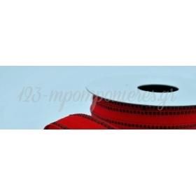 Κορδελα Κοκκινη Με Γαζι Πρασινο 15Mm / 20Μ - ΚΩΔ:Hb13305