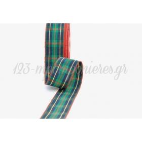 Κορδελα Υφασματινη Καρρω Ουγια Πρασινο Σκουρο-Κοκκινο 25Μμ / 20Μ - ΚΩΔ: Scowe025X20-5