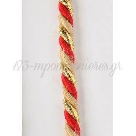 Κορδονι Τρικλωνο Λινατσα Κοκκινο Με Χρυσο 8Mm X 15M - ΚΩΔ:5803Κx-Nt
