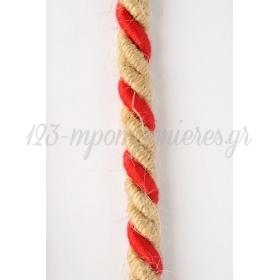 Κορδονι Τρικλωνο Λινατσα Κοκκινο 8Mm X 15M - ΚΩΔ:5803Fk-Nt