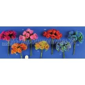 Λουλουδια Διχρωμα Απο Οργαντινα - Ματσακι - ΚΩΔ: 3014136-Rd