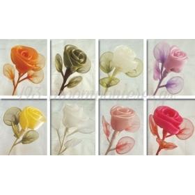 Λουλουδι Οργαντζα Με 3 Ρακετες Για Κουφετα 22X5Cm - ΚΩΔ: 520040