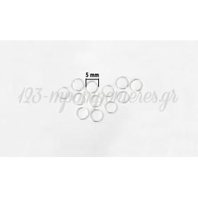 ΚΡΙΚΑΚΙ ΜΙΝΙ 5mm - ΑΣΗΜΙ ΑΝΟΙΧΤΟ - ΠΑΚΕΤΟ 450 ΤΜΧ -  ΚΩΔ: 517617