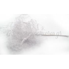 Λουλουδι Δαντελα Κοτσανι 15X8.5Cm - ΚΩΔ: 508034