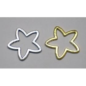 Μεταλλικα Αστερια 2.5X2.5Cm - Σε Χρυσο Και Ασημι - ΚΩΔ: 517255