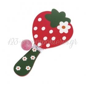 Ρακετες Ξυλινες Φραουλες - ΚΩΔ.: Mp-11E6267-Pr