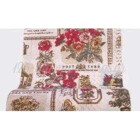 Ρολο Καραβοπανο Με Κοκκινα Λουλουδια 24Cm X 4,57 Μετρα - ΚΩΔ: 527180